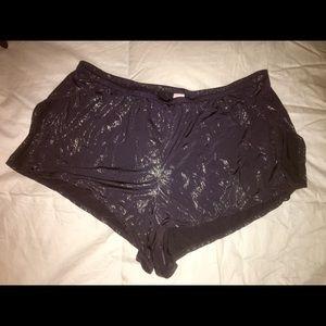 Victoria Secret Shine Flounce-Style Shorts